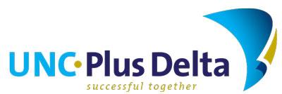 logo UNC Plus Delta PlusDelta payoff 400x134