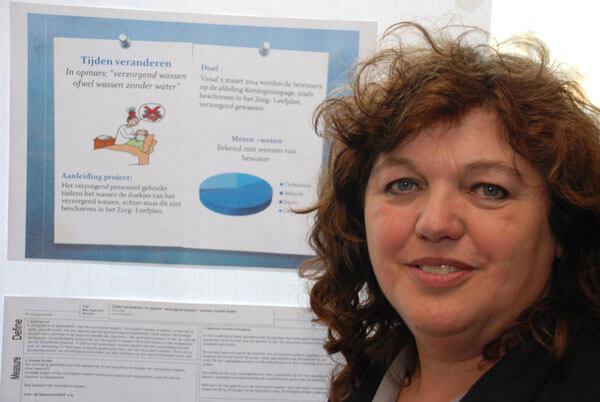 Mariet Balt bij het Green Belt Project
