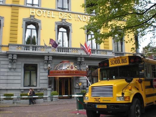 De Ideeenbus voor Hotel Des Indes waar de workshops werden gegeven